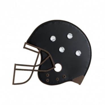 Ardoise casque de baseball metal noir marron