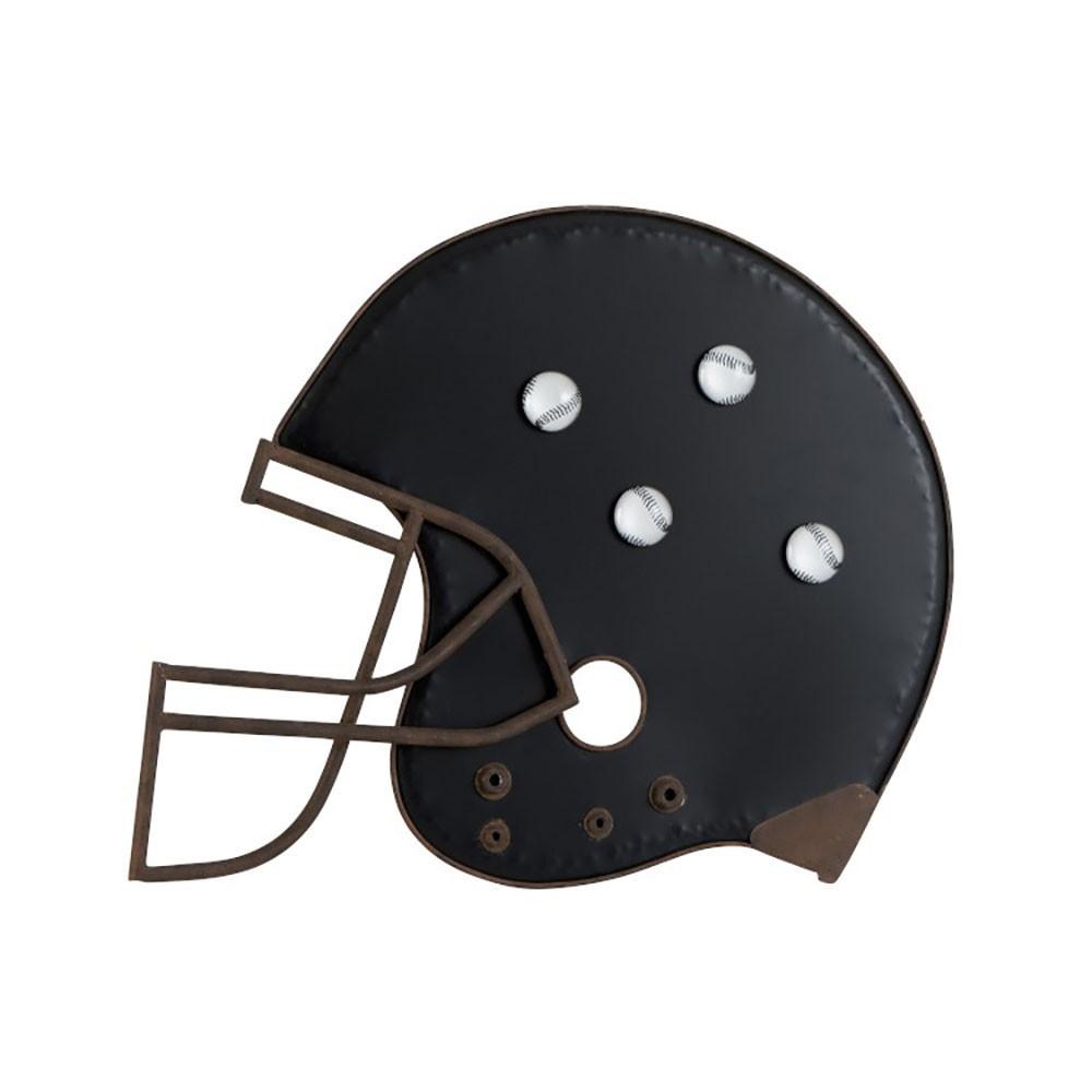 Ardoise casque de baseball metal noir marron
