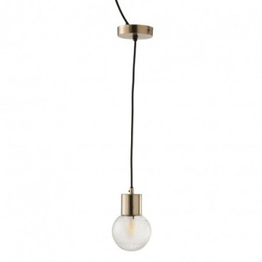 Lampe Suspendue Boule Verre Or Small
