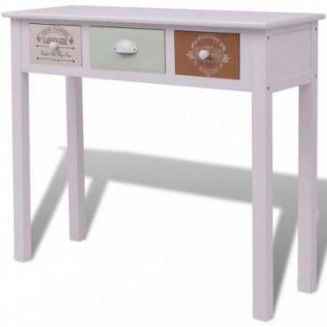 Table Console Scandinave Style Français En Bois