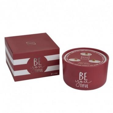 Bougie parfumee beyoutiful rouge large 50 heures