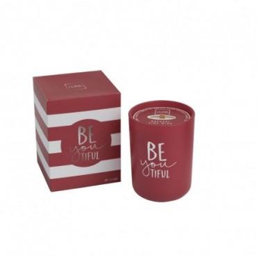 Bougie parfumee beyoutiful rouge small 50 heures