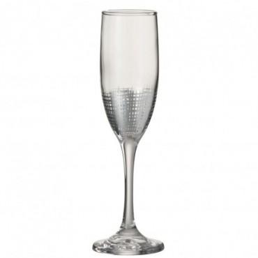 Verre a champagne grillage verre argent transparent