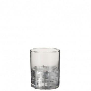 Verre grillage cylindrique verre argent transparent