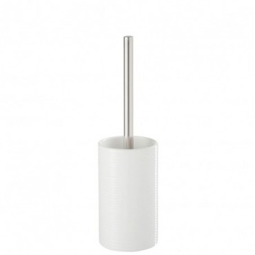 Brosse de toilettes ceramique plastique blanc 35x10x10cm