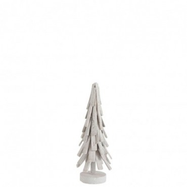 Sapin de noel couches bois blanc wash small