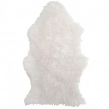 Tapis imitation fourrure blanc