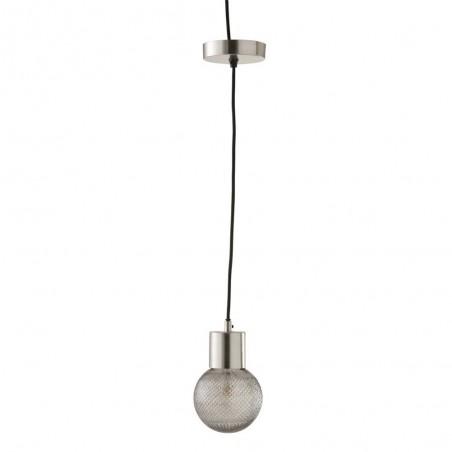 Lampe Suspendue Boule Verre Argent Small