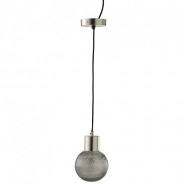 Lampe Suspendue Boule Verre Argent Medium
