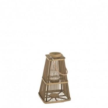 Lanterne photophore bambou naturel small