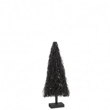 Sapin de noel plat branches bois noir small