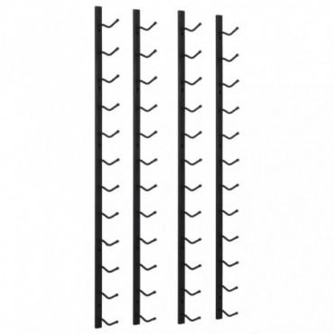 2 Range-Bouteilles Mural Noir En Fer Pour 12 Bouteilles