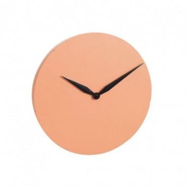 Horloge moderne ciment orange