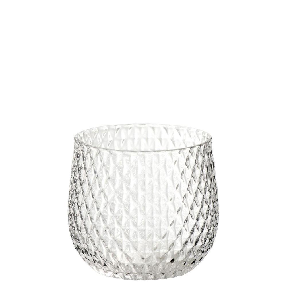 Bougie chauffe-plat en verre transparent