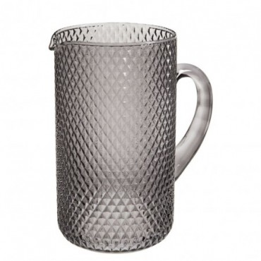 Carafe check pattern glass transparent