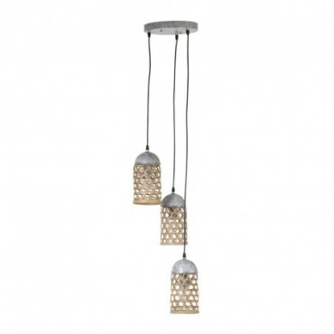 Lampe Suspendue 3 Bambou Naturel