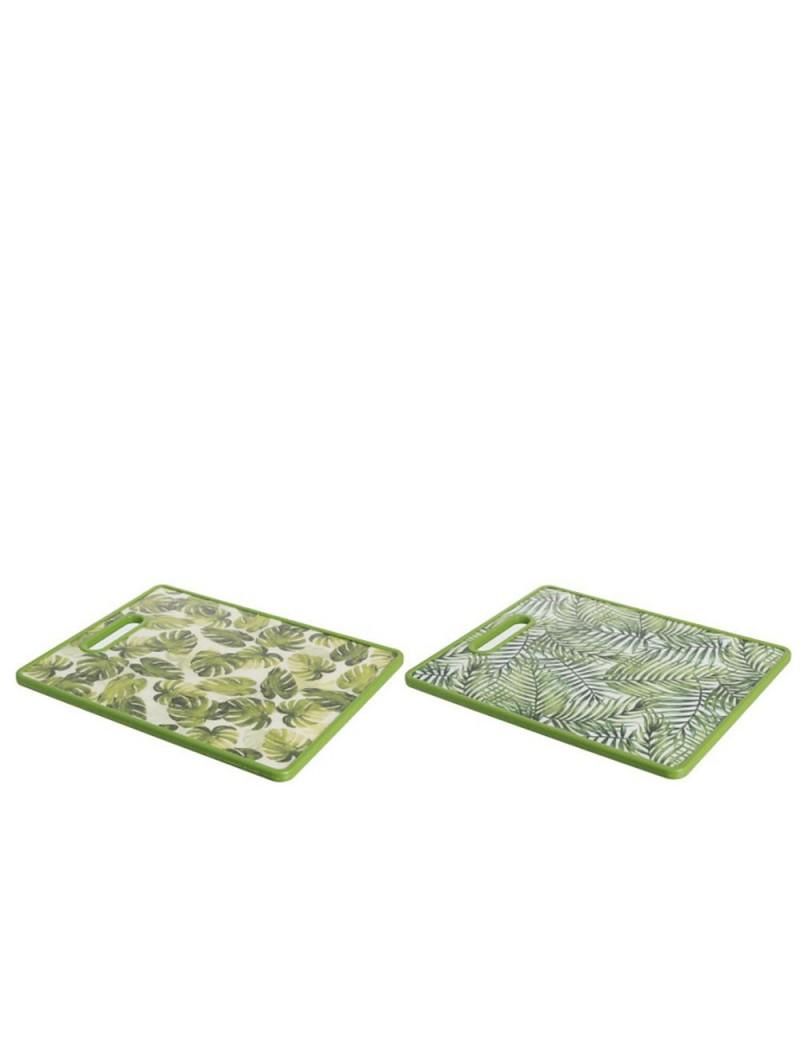 Planche à découper rectangulaire tropical bambou mix assortiment de 2