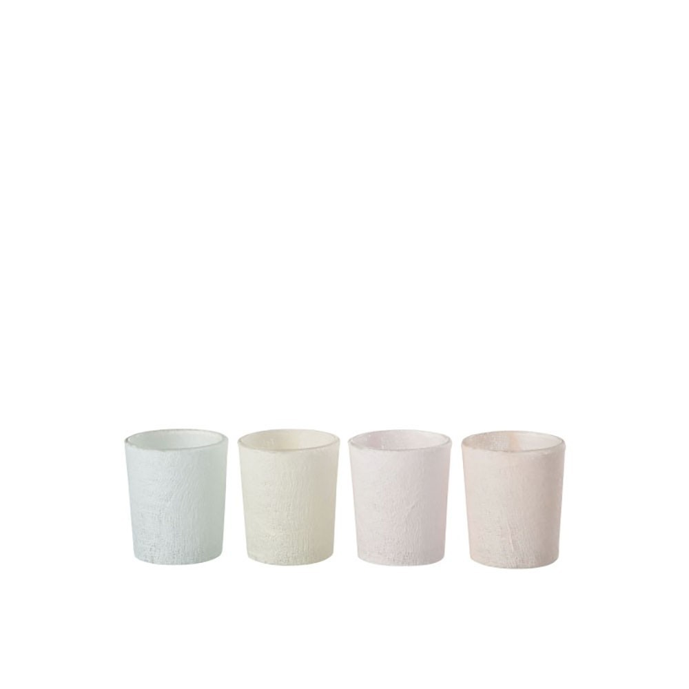 Photophore soft pastel verre mix small assortiment de 4