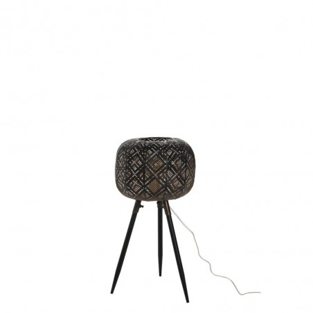 Lampe Orientale Trepied Metal Noir Small