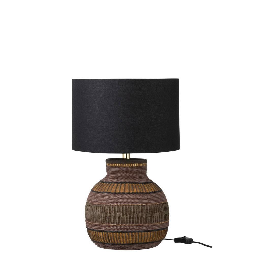 Lampe Ethnique Resine Mix