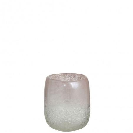 Vase Scavo Rond Verre Rose Small