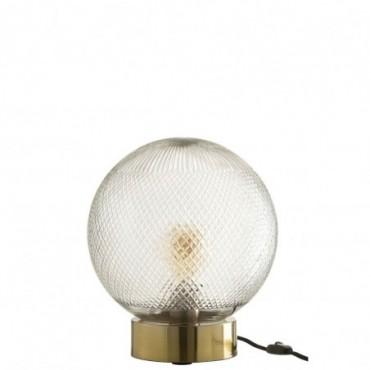 Lampe Boule Verre Or