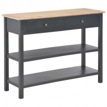 Buffet Noir en bois 110x35x80cm