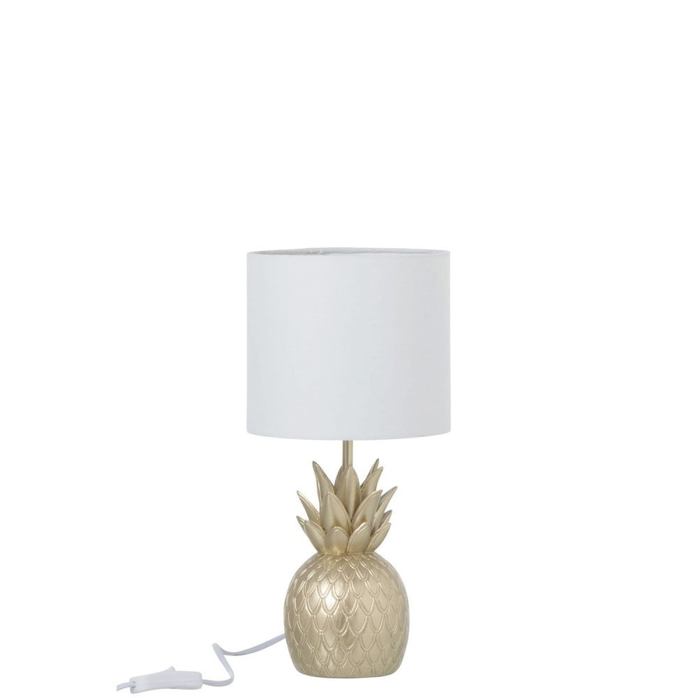 Lampe Ananas Resine Or
