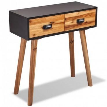 Console en bois d'acacia massif 70x30x75cm