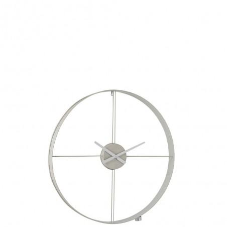 Horloge Murale Ronde Metal Blanc