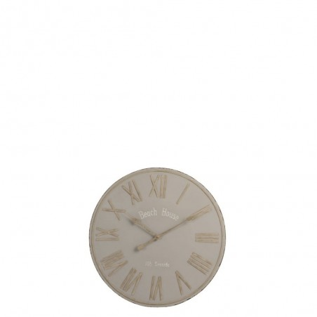Horloge Beach House Metal Beige Small