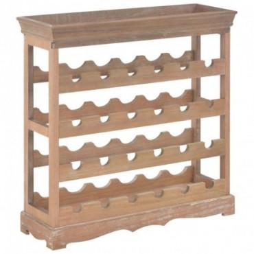 Casier à vin en bois Marron 70x22,5x70,5cm