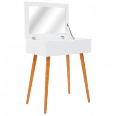 Coiffeuse avec miroir en bois 60x40x75cm
