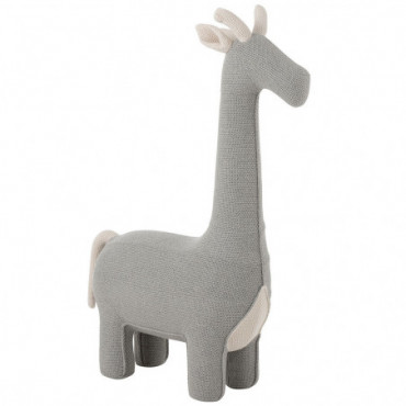 Girafe Bebe Coton Gris/Ecru Large