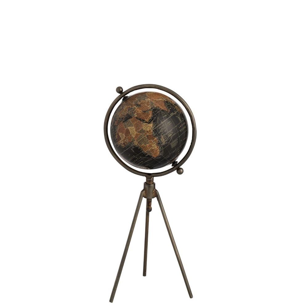 Globe Trepied Metal/Plastique Noir Small