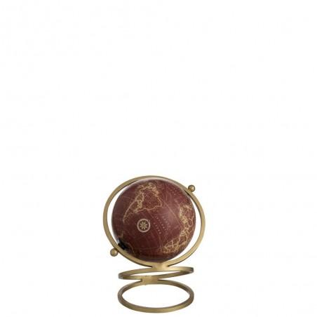 Globe Anneaux Metal/Plastique Or/Rouge Small
