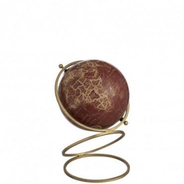 Globe Anneaux Metal/Plastique Or/Rouge Large