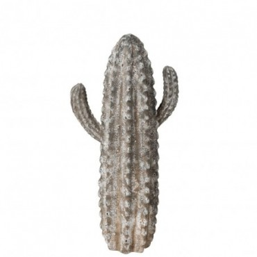 Figurine Cactus Resine Gris