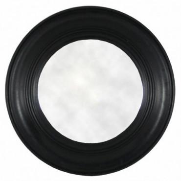 Miroir rond noir antique