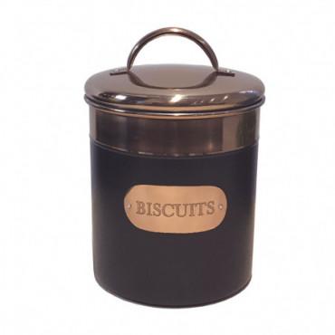 Boîte à biscuit noir et cuivre