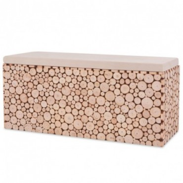 Banc en bois véritable 100x34x41cm