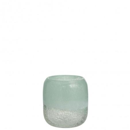 Vase Scavo Rond Verre Azur Small