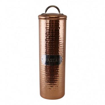 Boîte à pâtes en cuivre martelé 30x10cm