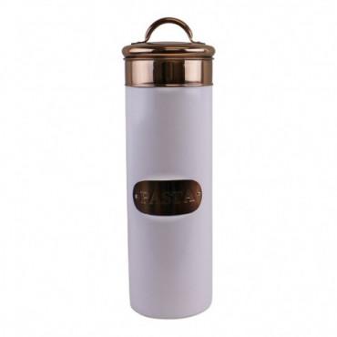 Boîte à pâtes cuivre & design métal blanc