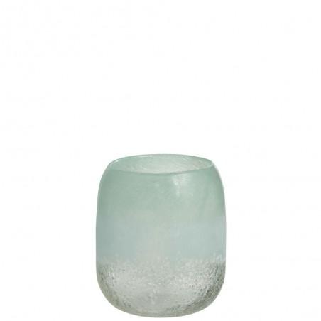 Vase Scavo Rond Verre Azur Medium