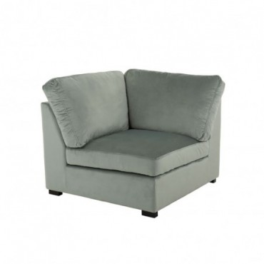 Fauteuil Coin Velours Menthe