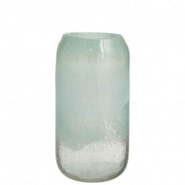 Vase Scavo Rond Verre Azur Large