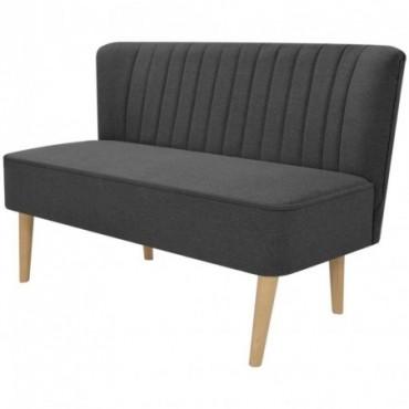 Canapé en tissu Gris foncé 117x55,5x77cm