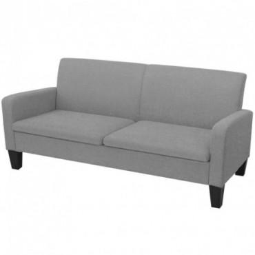 Canapé à 2 places Gris clair 180x65x76cm