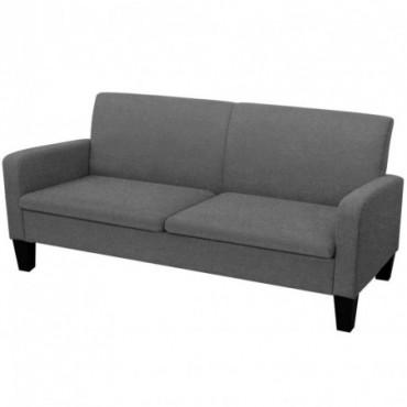 Canapé à 2 places Gris foncé 180x65x76cm